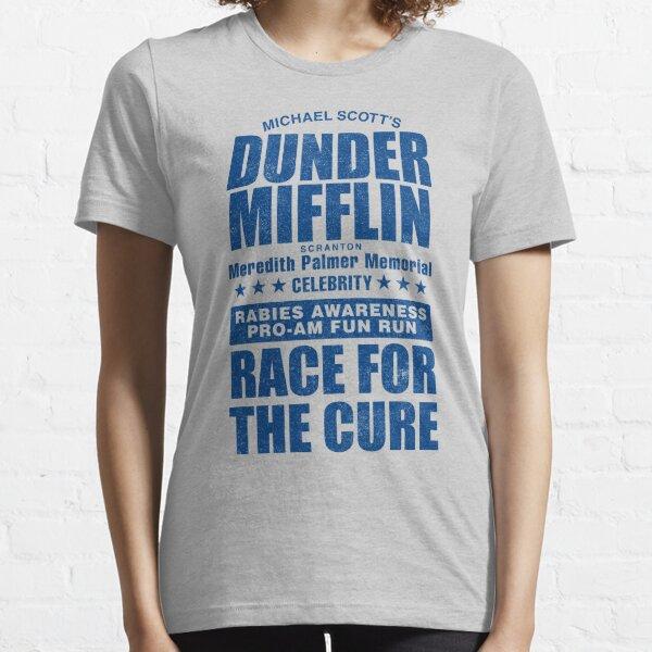 Dunder Mifflin Carrera de concientización sobre la rabia para la curación Camiseta esencial