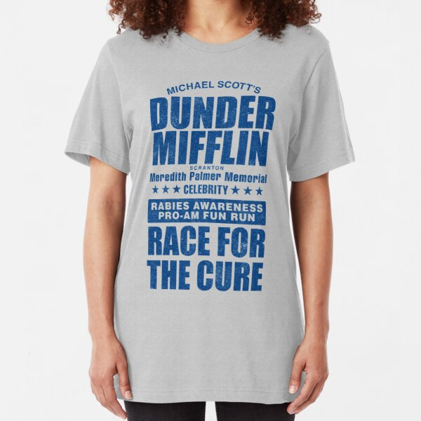 Dunder Mifflin Rabies Awareness Race for the Cure Slim Fit T-Shirt
