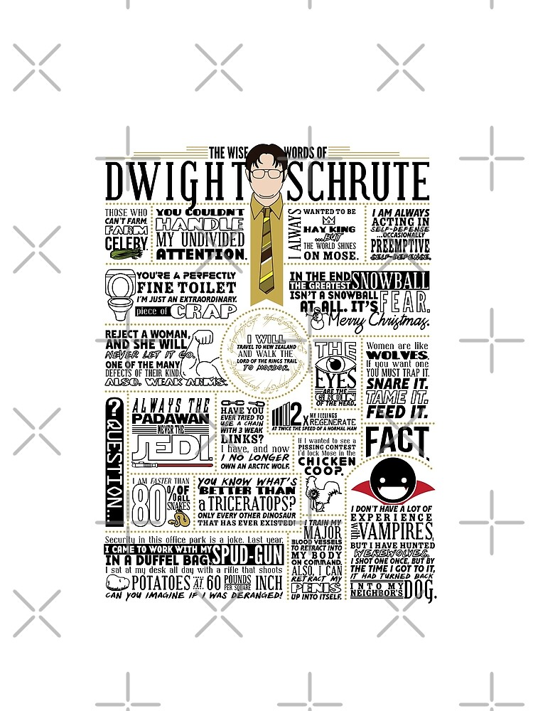 The Wise Words of Dwight Schrute (Light Tee) by huckblade