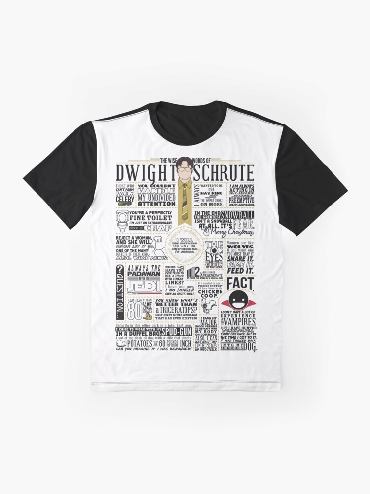 Alternate view of The Wise Words of Dwight Schrute (Light Tee) Graphic T-Shirt