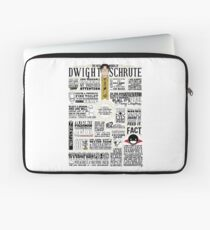 The Wise Words of Dwight Schrute (Light Tee) Laptop Sleeve