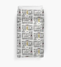 The Wise Words of Dwight Schrute (Light Tee) Duvet Cover