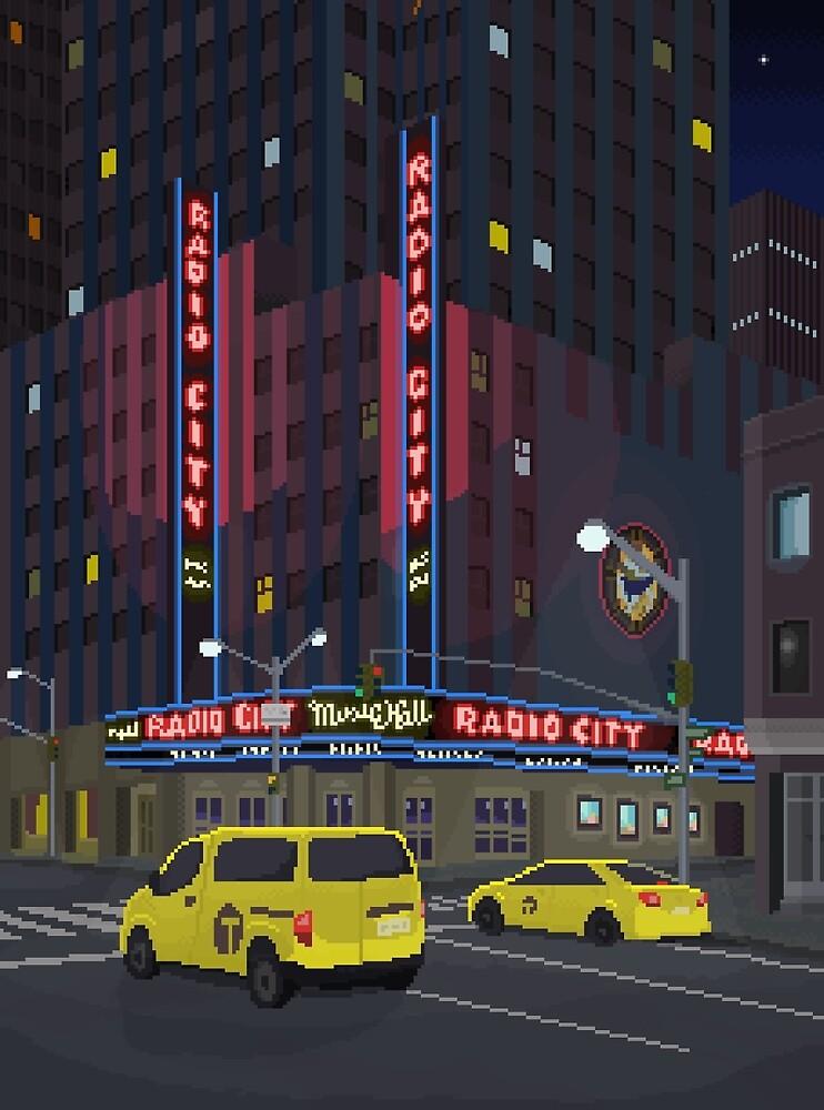 New York Pixel Art by javas