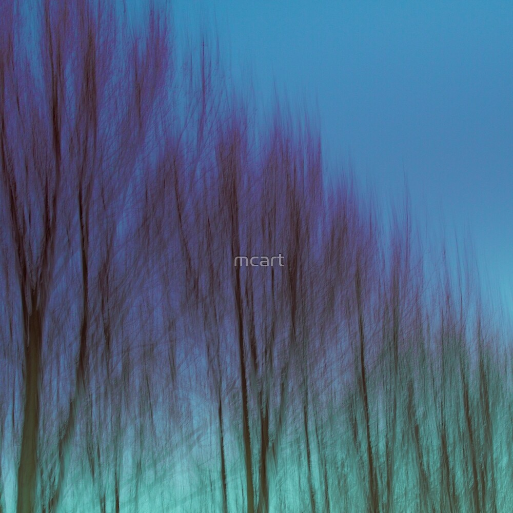 abstract blue green trees in sydney australia by mcart