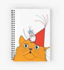 Cat & Mouse Party Fun ! Spiral Notebook