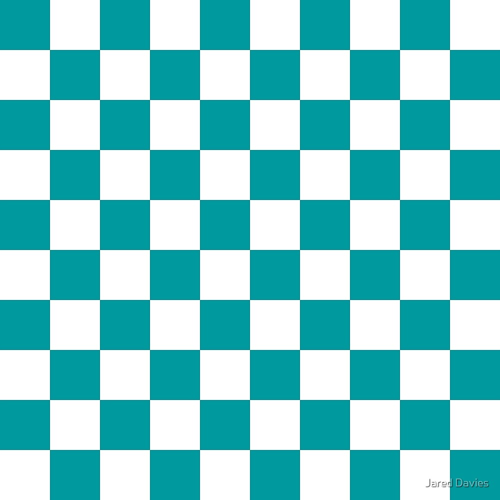 Blue, Teal: Checkered Pattern by MilitaryCandA