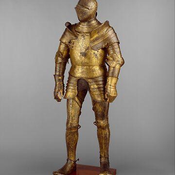 Vintage Golden Knight Armor Photograph (1527) by BravuraMedia
