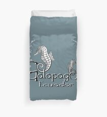 Galapagos Hippocampus with bubbles Duvet Cover