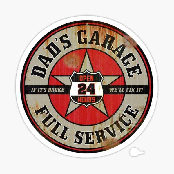 Dad's Garage Full Service Sticker