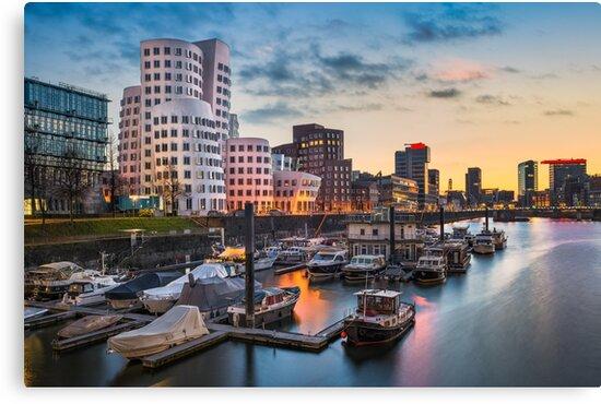 Dusseldorf harbour skyline by Michael Abid