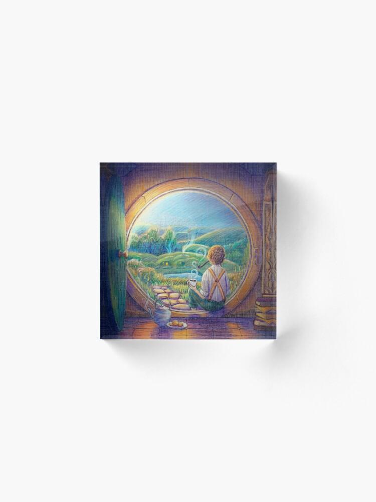 Alternate view of Tolkien Tea Time Acrylic Block
