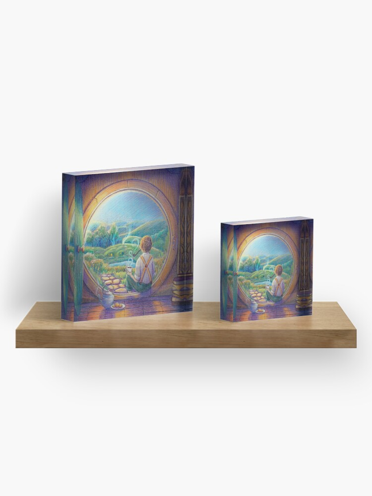 Alternate view of Tolkien Tea Time Acrylic Block