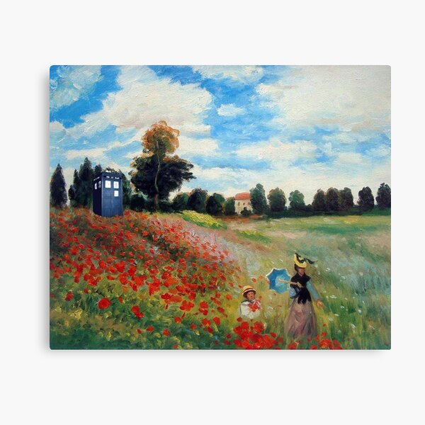 monet and the doctor Canvas Print