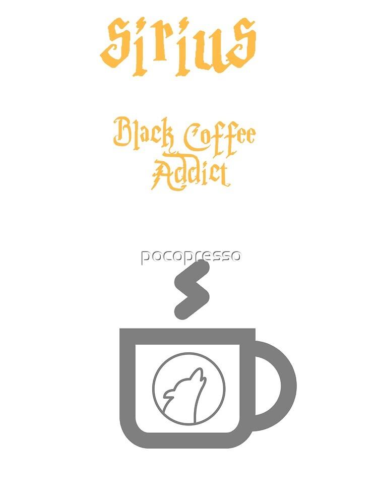 """""""Sirius Black"""" Coffee t shirt by pocopresso"""