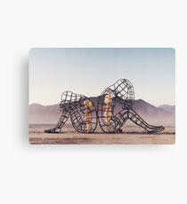 Burning Man Sculpture: Love Canvas Print