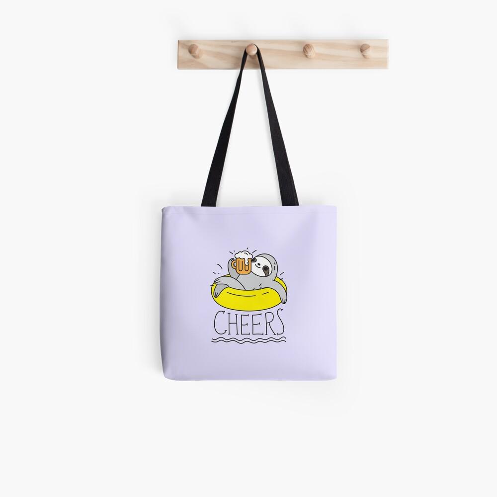 Beer Sloth  Tote Bag