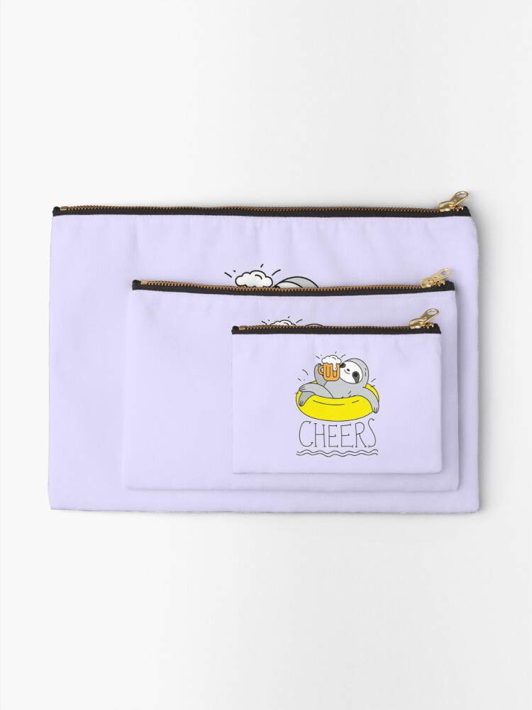 Alternate view of Beer Sloth  Zipper Pouch