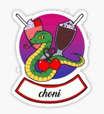 Serpent and Cherry Sticker