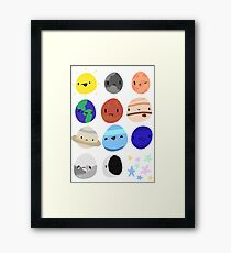 Space Stickers Framed Print