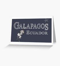 Galapagos  Ecuador Greeting Card