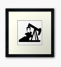oil pump oil Framed Print