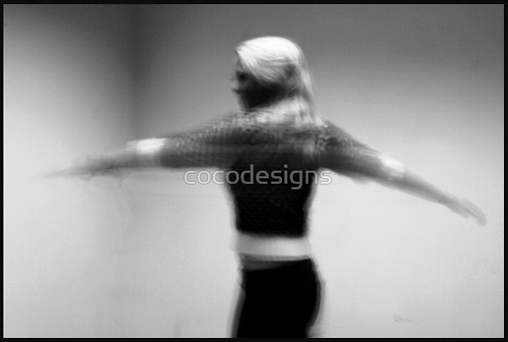Black and white spinning girl by cocodesigns