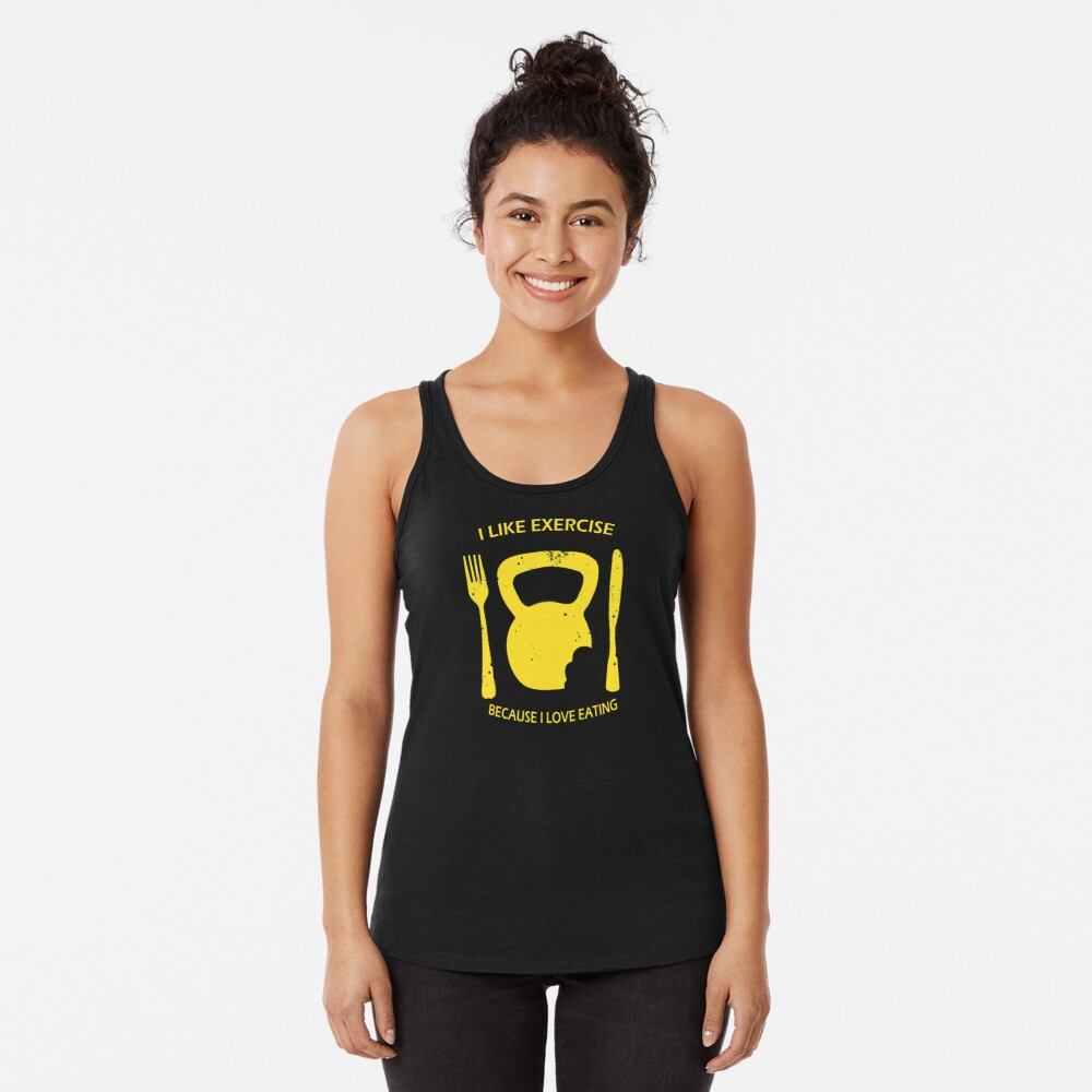 I Like to Exercise Racerback Tank Top