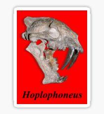 Hoplophoneus fossil skull Sticker