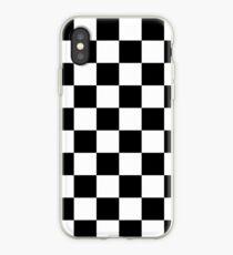 Checkered Pattern: Black & White iPhone Case