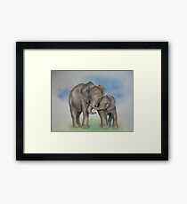 me and my mom. Framed Print