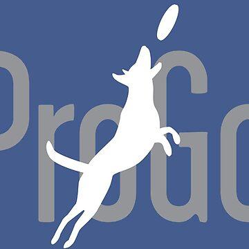 ProGo Merch White Dog Grey Text by progo