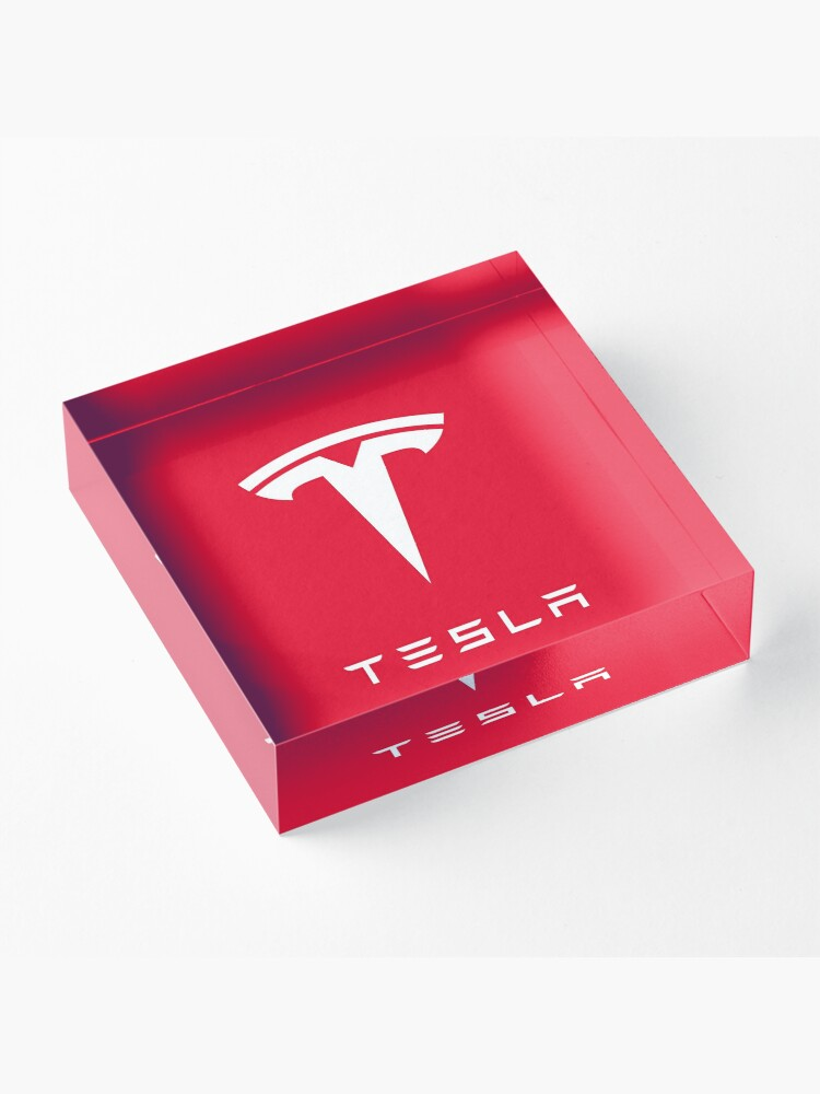 Alternate view of TESLA RED CLASSIC Acrylic Block