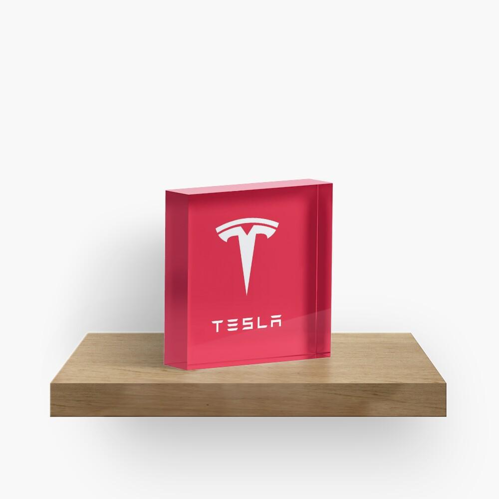 TESLA RED CLASSIC Acrylic Block