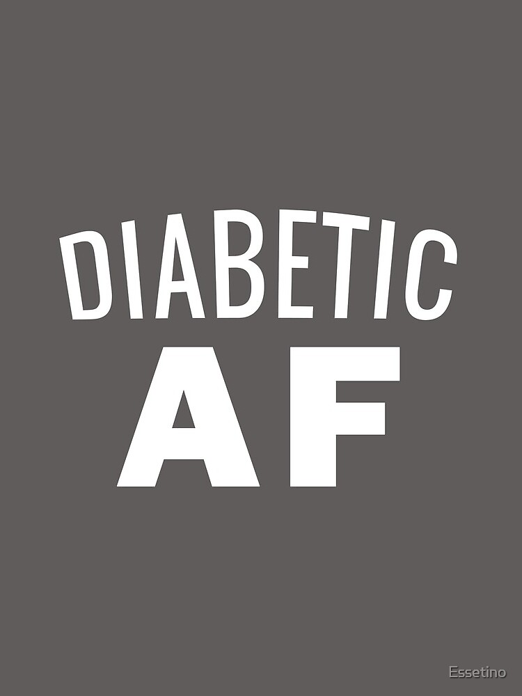 Diabetes Awareness T-Shirt - Diabetic AF Insulin Power by Essetino
