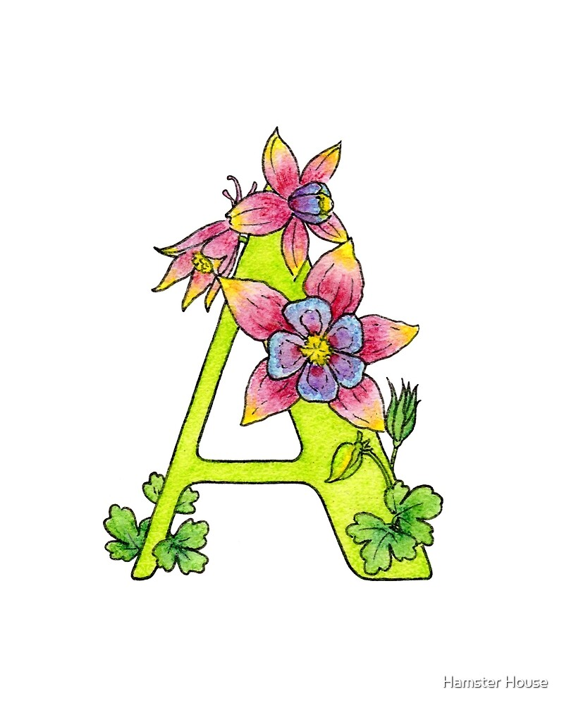 """""""A"""" for aquilegia by Artcomma"""