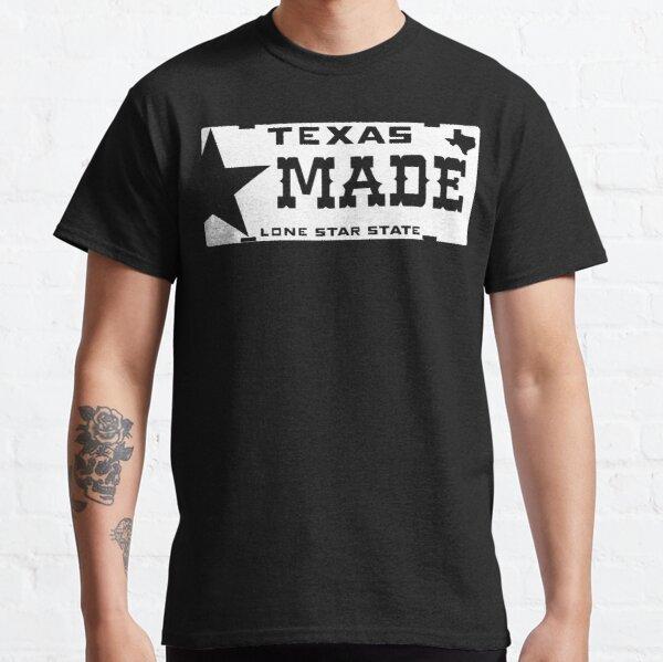 Placa de Texas Made Lone Star Camiseta clásica