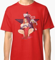 Jessica rabbit #Boobheartchallenge  Classic T-Shirt
