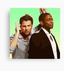 Shawn and Gus (Psych) Canvas Print