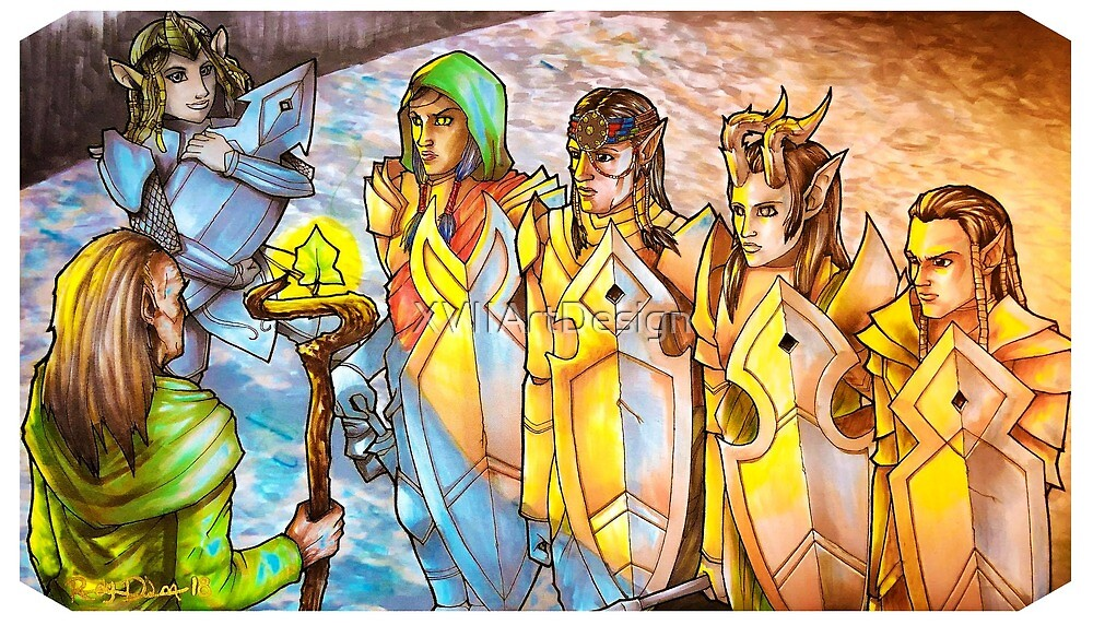 Collected Company Elves by XVIIArtDesign
