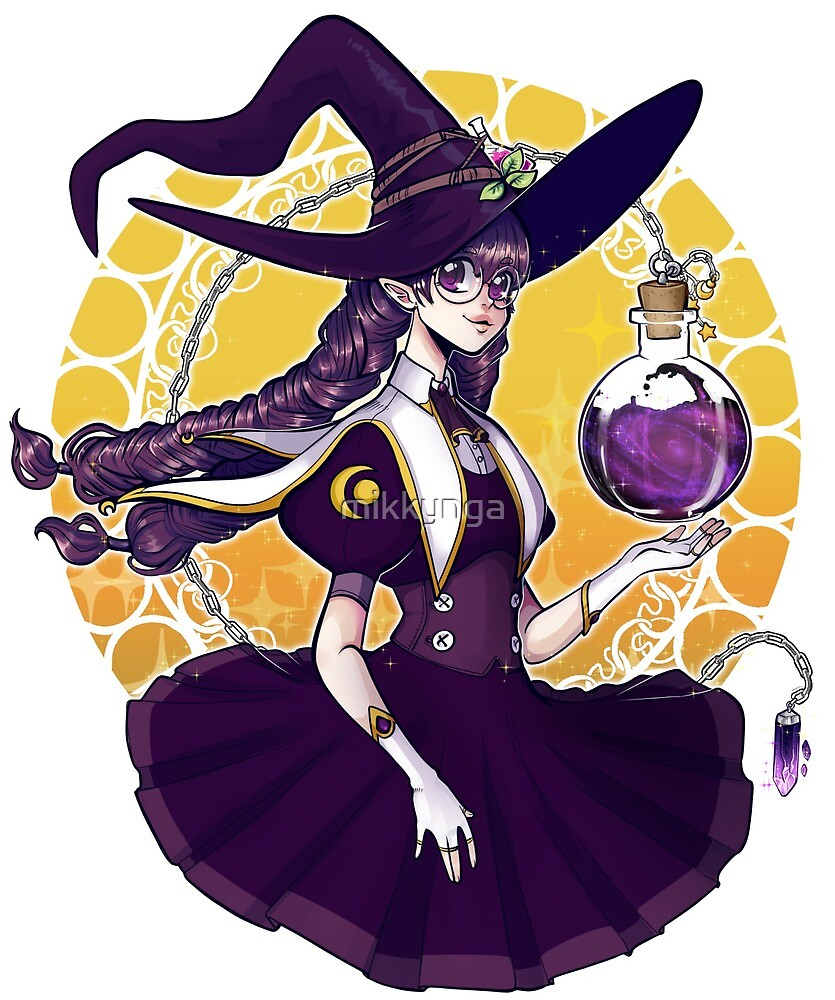 Galaxy potion witch by mikkynga