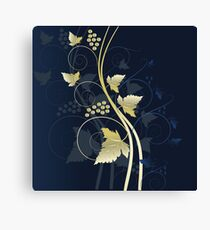 Beautiful vineyard design Canvas Print