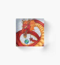 The Red Dragon Acrylic Block