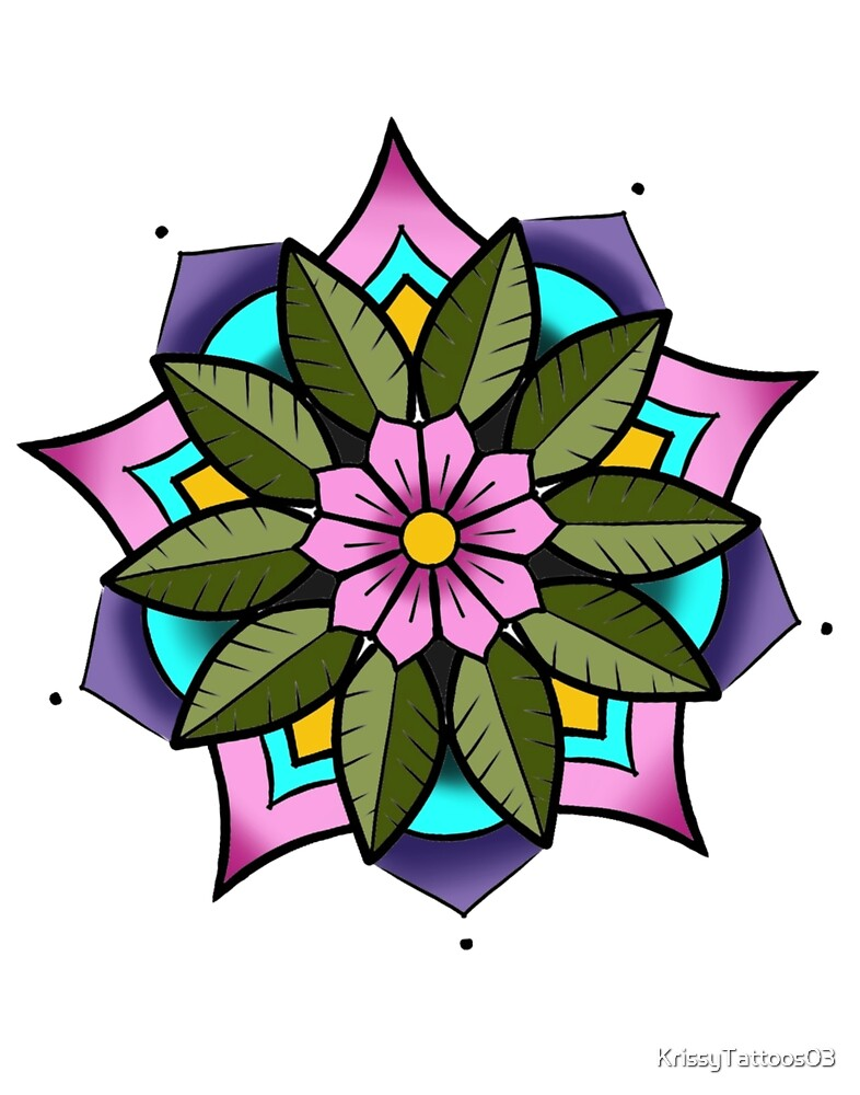 Mandala flower  by KrissyTattoos03
