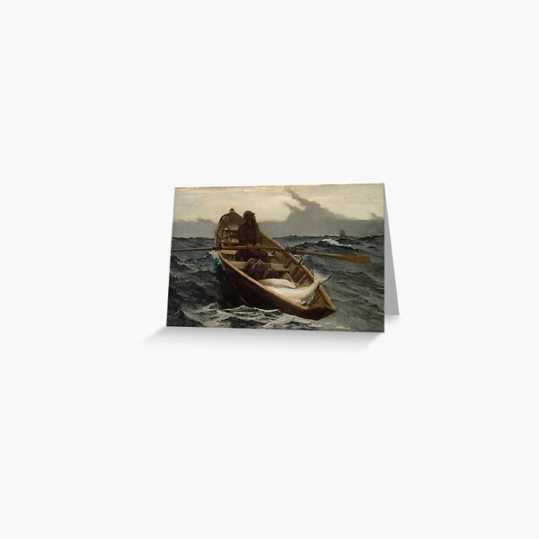 The Fog Warning / Halibut Fishing by Winslow Homer Greeting Card