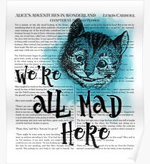 Alice in Wonderland - We're All Mad Here Poster