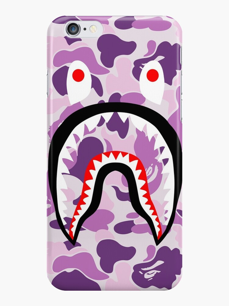 new product b451d 177a9 'iwak purple bape' iPhone Case by sjnsaks