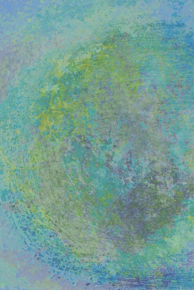 abstract in tie dye colors by Dawna Morton