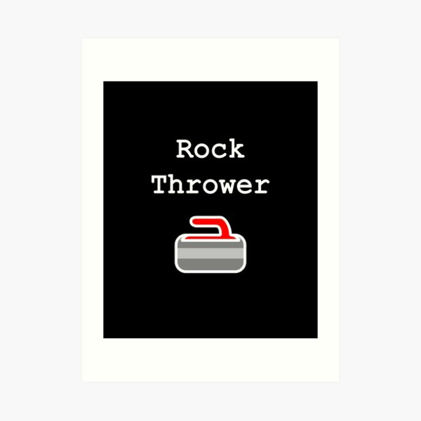 Curling Rock Thrower for Ice Curlers Dark Color Art Print