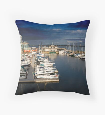 Marina Sunset.  Throw Pillow