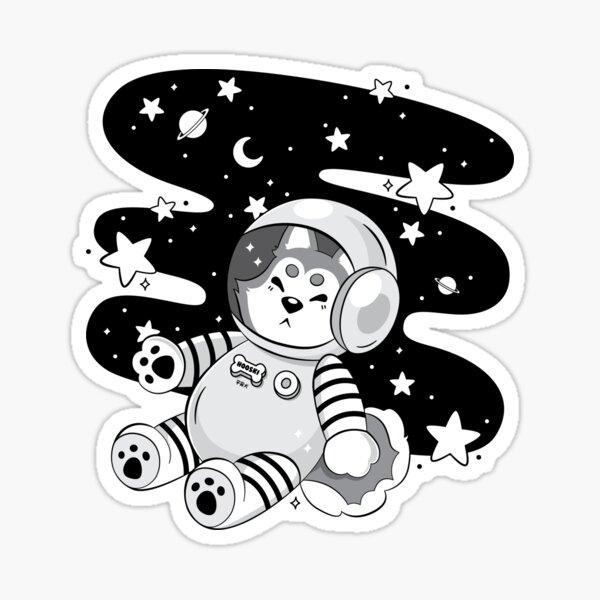 Cmdr. Hooski (Grayscale) Sticker